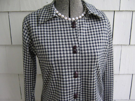 Vintage Jacket Check Navy White