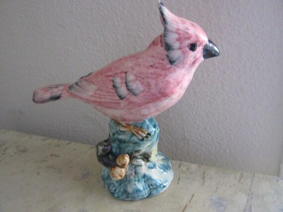 Vintage Figurine Stangl Bird Cardinal