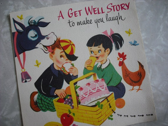 Vintage Greeting Card Get Well