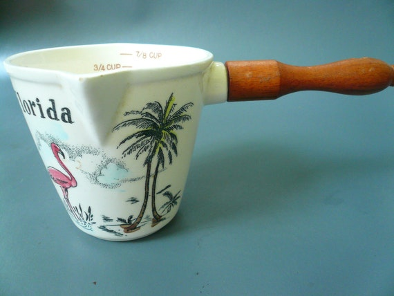 Vintage Pitcher Souvenir Florida Measuring Cup