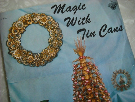 Vintage Book  Boho Tramp Art  Magic With Tin Cans 1960s