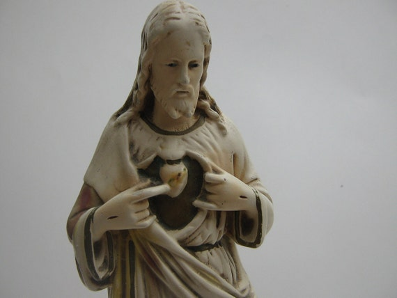 Vintage  Chalkware Jesus