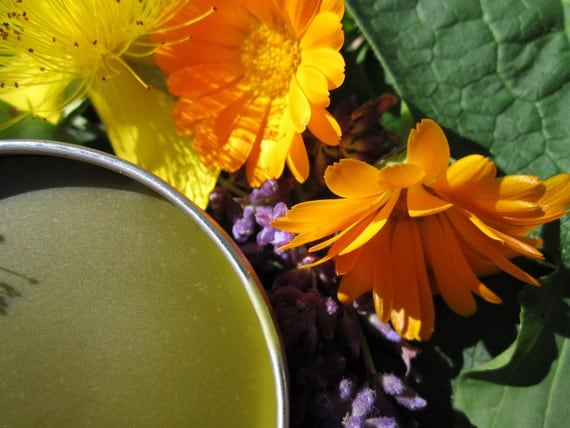 Herbal Salve-Jumbo Size- Magical Healing Salve- with Calendula, Comfrey, Tea Tree, Lavender.....