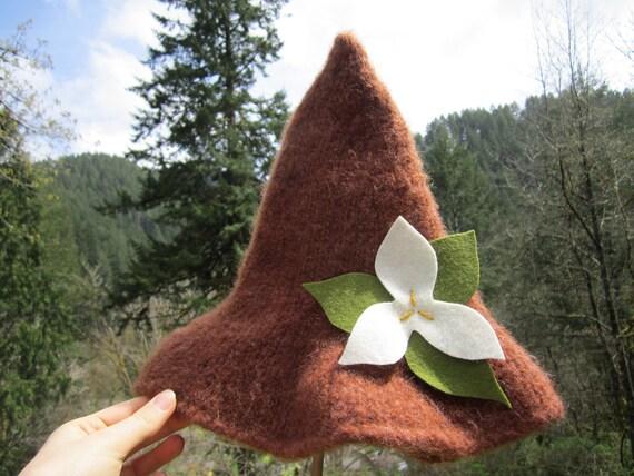 Reserved- Trillium Woodland Hat- Handknit Felted Hat