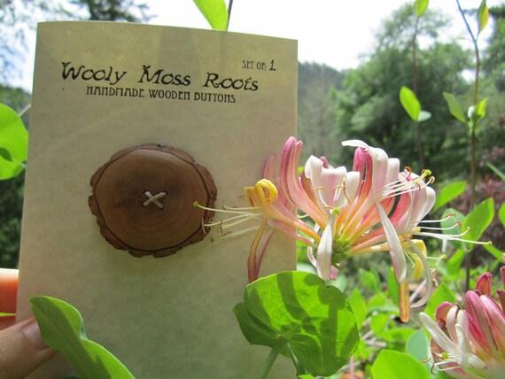 Reclaimed Wood Button- Sassafras Wood- Knitting, Sewing, Craft Buttons