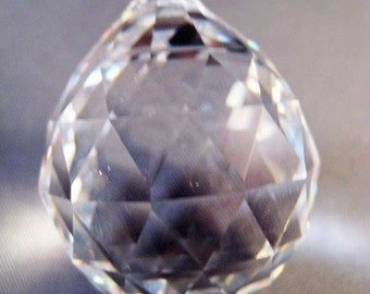 Crystal Ball Chandelier Prism Ornament - Faceted X-LARGE 70mm Crystal Ball