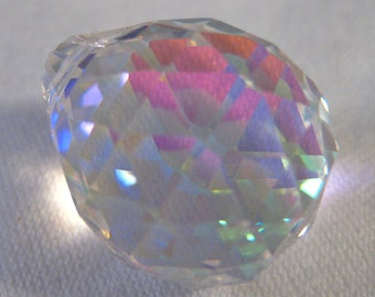 5 AB Iridescent 20mm Chandelier Crystal Prism Ball, FULL Lead Asfour Crystal (S-17)