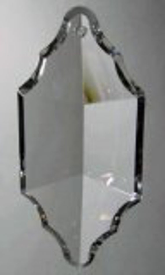 Crystal Prism Pendant Chandelier Prism - UNIQUE CUT - 2-HOLE - 63mm x 30mm
