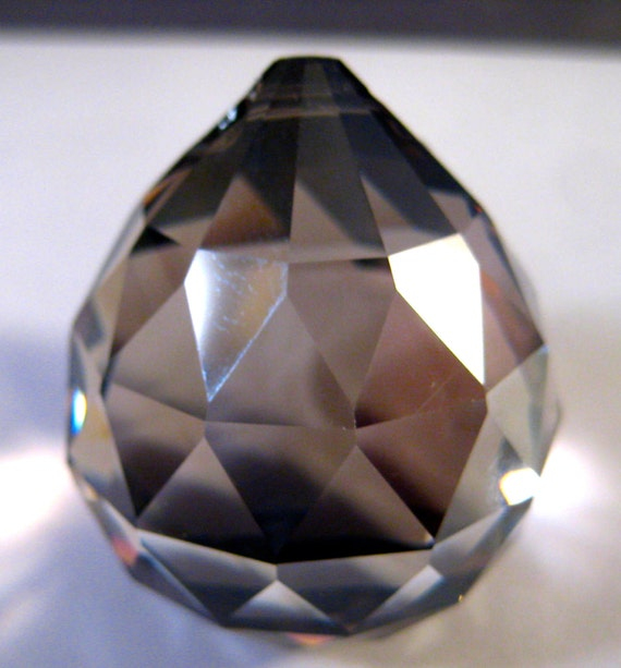 Satin  Chandelier Crystal Ball Prism - 30mm SATIN Faceted Crystal Ball