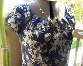 Made to Order: Calling Suzie Wong navy brocade Retro style wiggle dress