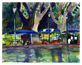 SALE! After The Rain, Brandywine River Art Festival, Delaware - Watercolor Print