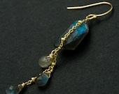 KARA - Abstract Labradorite Earrings