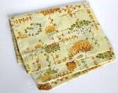 Pillowcase Retro Mod Vintage Folksy Yellow Floral