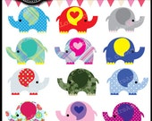 Elephant Parade Digital Clipart for Personal and Commercial Use