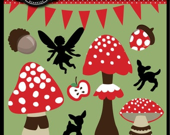 Woodland Fairy Party Theme Graphics for Invitations, web design, crafts and more Commercial Use included