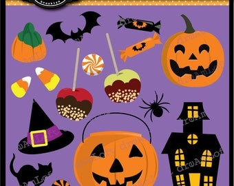 Halloween Clip Art Trick Or Treat for Personal and Commercial Use
