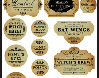 Halloween Printable Frames and Labels for Personal and Commercial Use