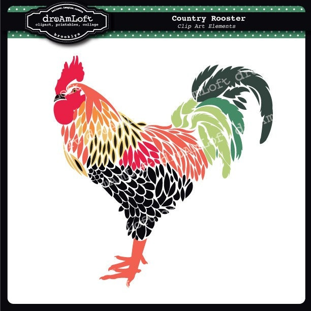 Rooster Clip Art for Personal & Commercial Use