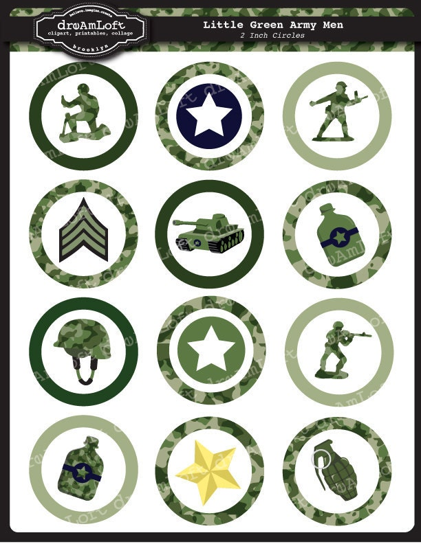 Military Birthday Cake Toppers