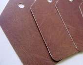 Leather Blank Paper Tags Shipping Tags Hang Tags Wedding Favor Tags Thank You Tags
