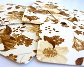 Sepia Flowers Romantic SHABBY CHIC  Recycled Paper Shipping Tags 30