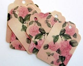 20 Fancy, high quality, vintage design, romantic, SHABBY CHIC,  recycled paper shipping tags