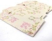 Paper Shipping Tags Golden and Lilac Leaf Brocade Design 30 High Quality Recycled