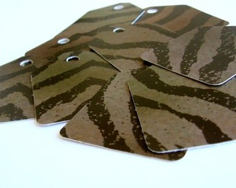 30 Tigery Black and Gold, high quality,  recycled favor shipping tags