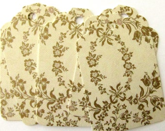 Leaf Brocade Design 20 High Quality Recycled Paper Shipping Tags