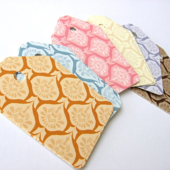 Blank Retro Ice Cream Gift Tags - Favor Tags - Thank you tags - Hang tags