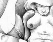 Mature original erotic art 1
