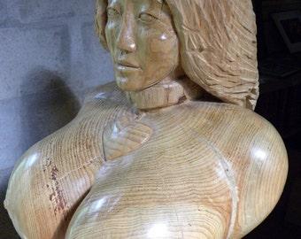 Venus Bound Wood Carving