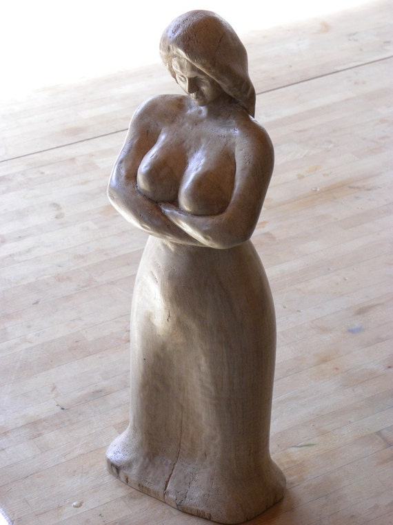 Firewood Woman Wood Carving