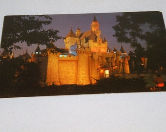 1960s DISNEYLAND Sleeping Beautys Castle Postcard