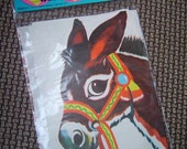 Vintage Pin the Tail on the Donkey Party Game, NIP
