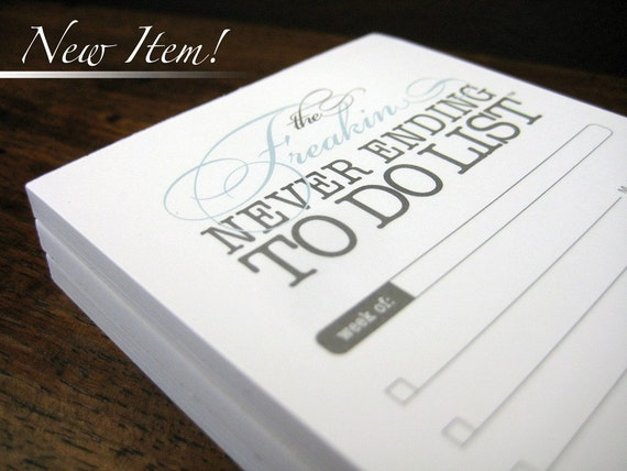 Freakin To Do list notepad - 3 pack