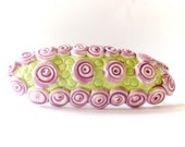 Green and lavender barrette, spring summer accessoires, hair accessoires