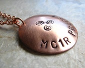 MC1R Pride Necklace - Redheads Mutation in Copper