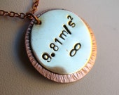 Gravity Necklace in Copper and Brass with Infinity Symbol