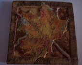 Maple Leaf Trivet or Wall Plaque
