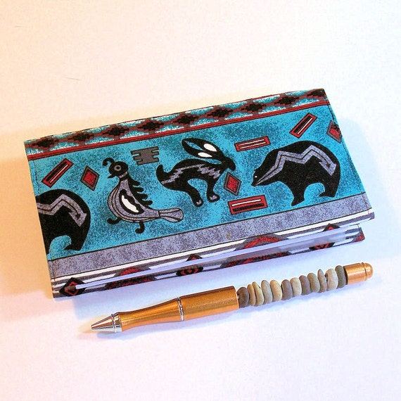 Checkbook Cover for Duplicate Checks - American Indian Designs