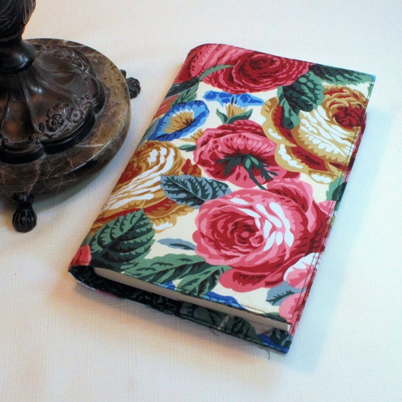 Fabric Paperback Book Cover - Glory Rose-  LargeTrade Size
