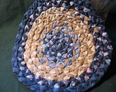 Blue Braided Candle Mat