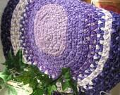 Purple Braided Rug