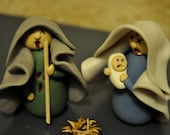 Zombie Nativity Set, Six Clay Figurines for the Holiday