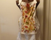 Prairie Towel Apron Oven Mitt Pocket Farmhouse Rag Doll Pinafore Dress READY TO SHIP Juniors Womens