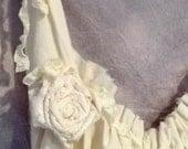 Corset Mini Dress or Tunic Birdcage Hem Custom Made Womens Tattered