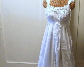 Summer Beach Dress Long Maxi White Plain Minimal Custom Hippie Boho Womens Wedding Bridal