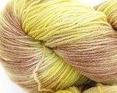 Three Hares hand dyed sock yarn fingering weight, 8ply superwash merino, 100g - Banana Cream Pie 1