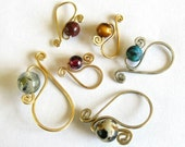 Removable stitch markers - custom mto mixed set of 4 Widgets  - XS, S, M, L  (3.75-9mm)